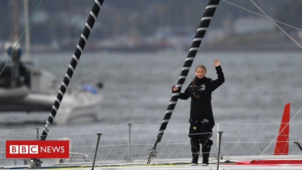 Greta Thunberg: Climate modification activist sails into New York City