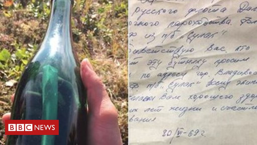 Russian sailor's 1969 message in a bottle cleans up in Alaska