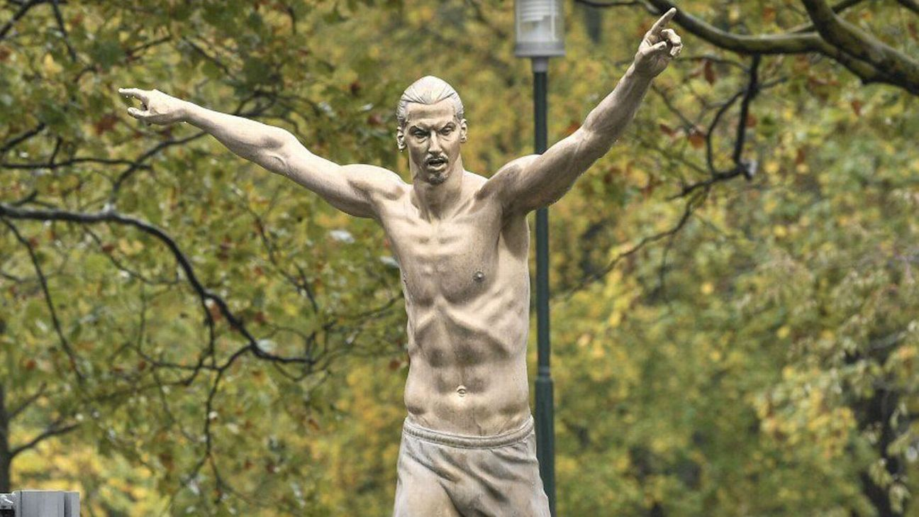 Nearly naked Zlatan statue revealed in Sweden