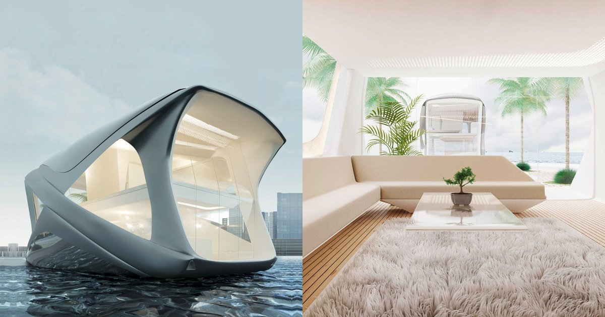 the 'ocean community' reacts to increasing sea levels with luxury houseboats