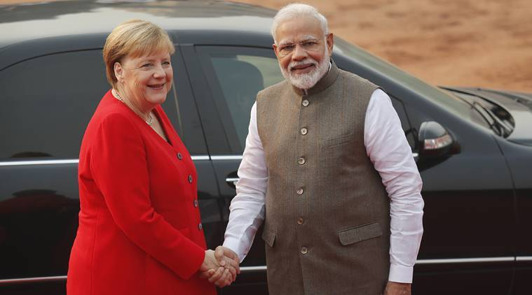 German Chancellor Angela Merkel meets PM Modi ahead of trade talks