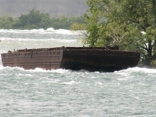 Boat stuck above Niagara Falls for more than a century dislodged by severe storms