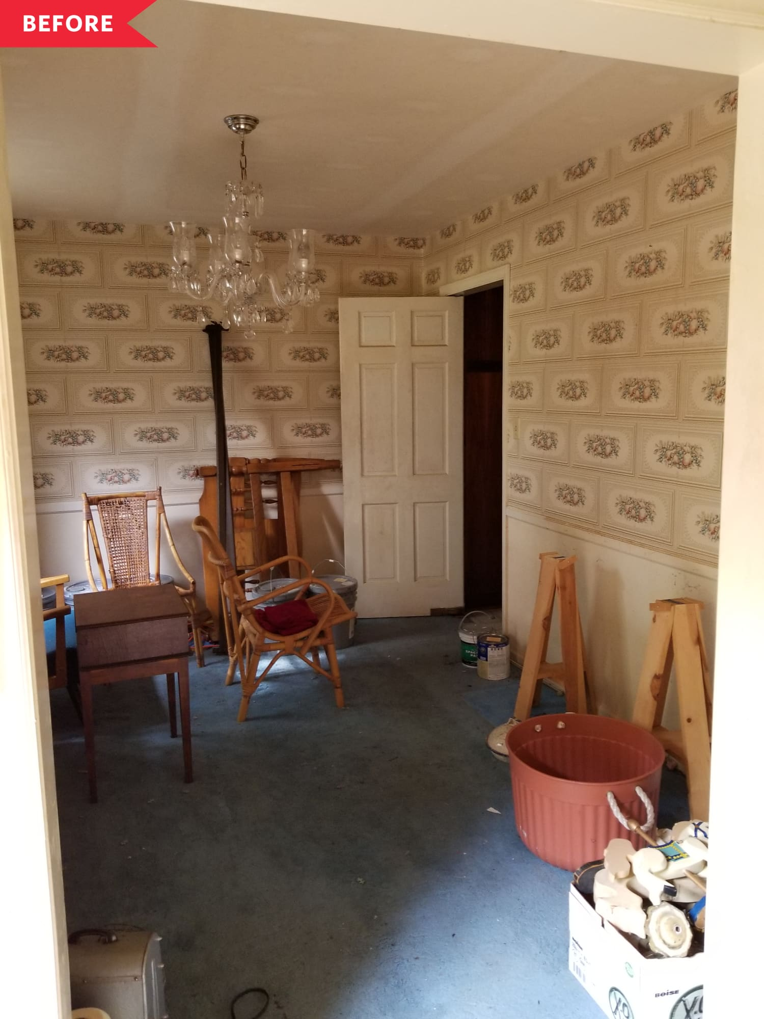 Before & After: The Dining Room in This Once-Abandoned House Is Now Indistinguishable