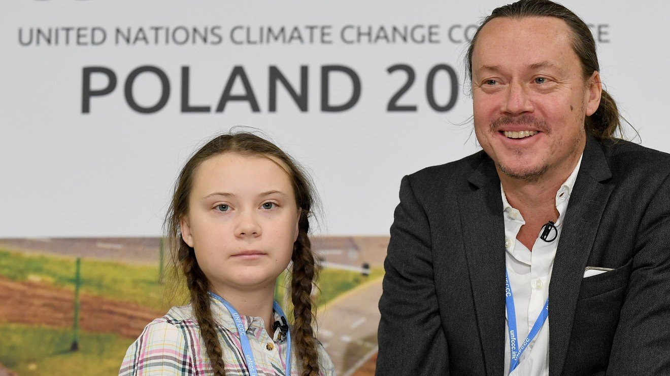 Key Words: Even with dangers and a big following, climate campaign makes Greta Thunberg more like a routine teen, says daddy