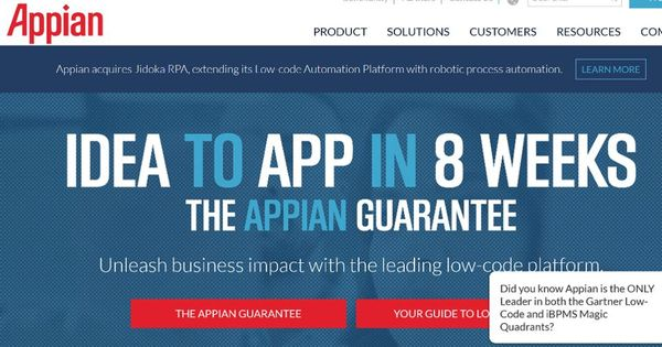 Appian Makes A Play For RPA (Robotic Process Automation)
