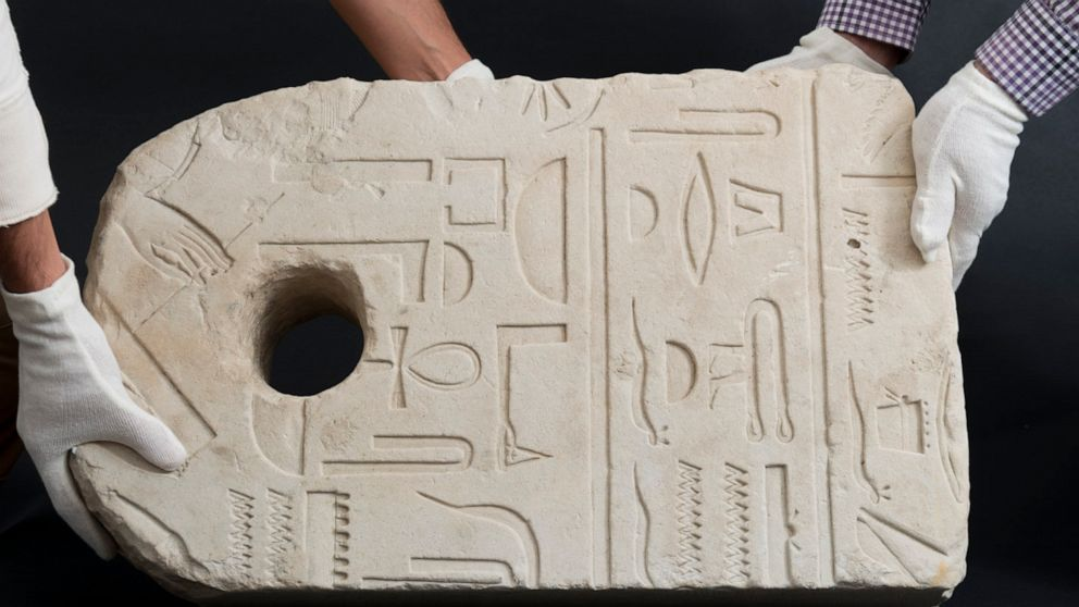 Man finds 3,400-year-old Egyptian anchor during his morning swim