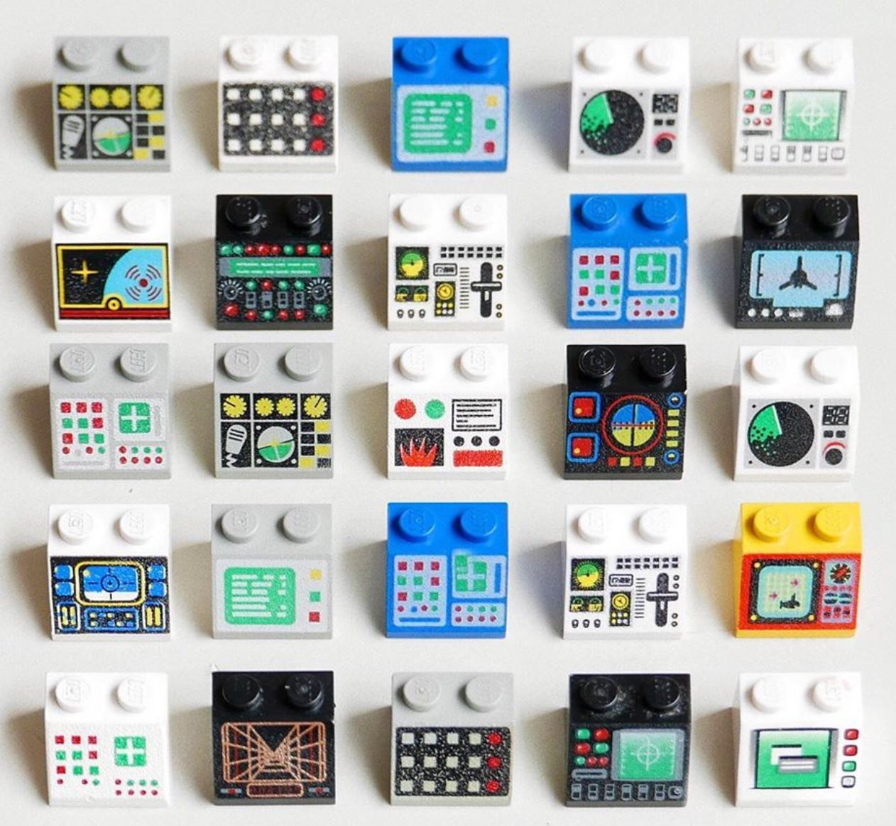 The various Lego computer interfaces