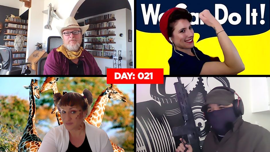 This work-from-home group surprises each day with insane outfits